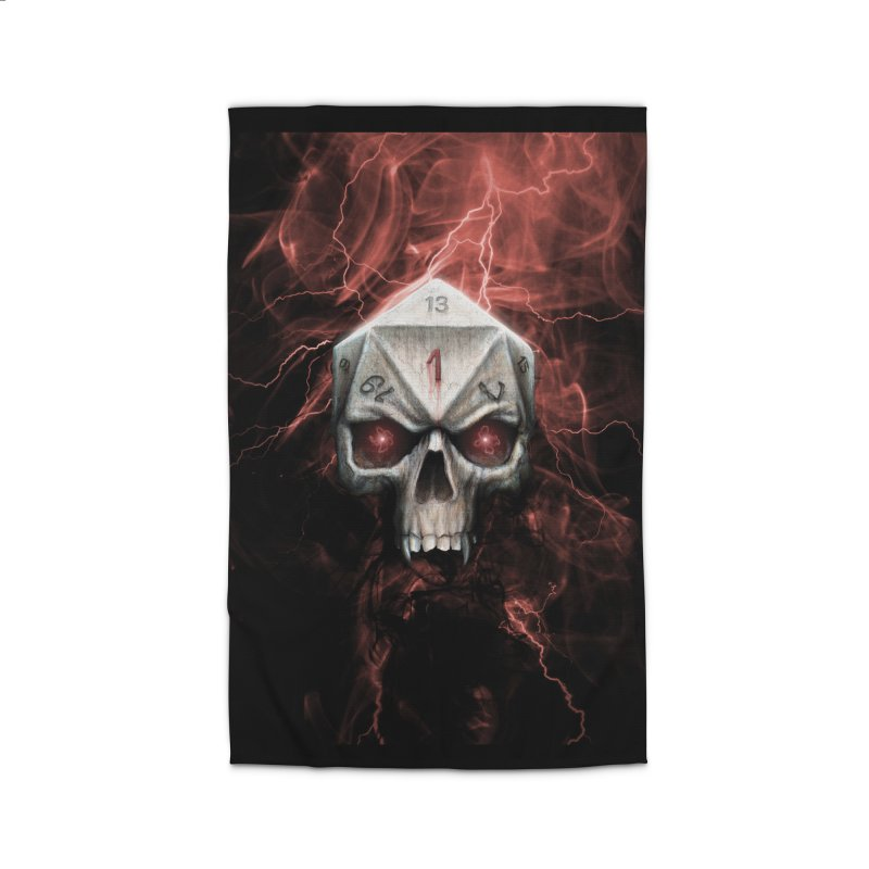 Skull D20 Home Rug by maratusfunk's Shop