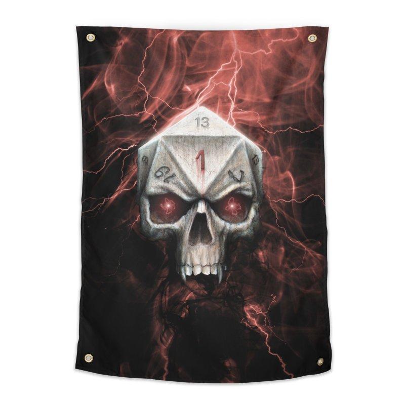Skull D20 Home Tapestry by maratusfunk's Shop