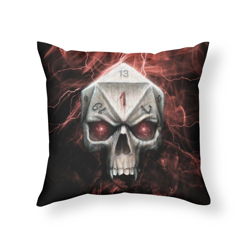 Skull D20 Home Throw Pillow by maratusfunk's Shop