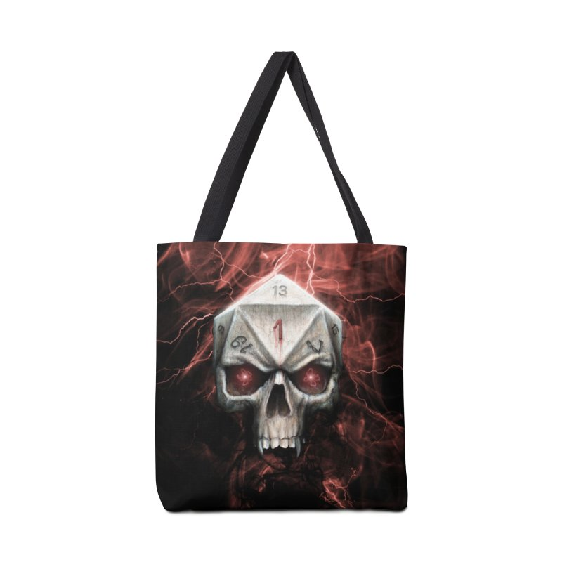 Skull D20 Accessories Tote Bag Bag by maratusfunk's Shop