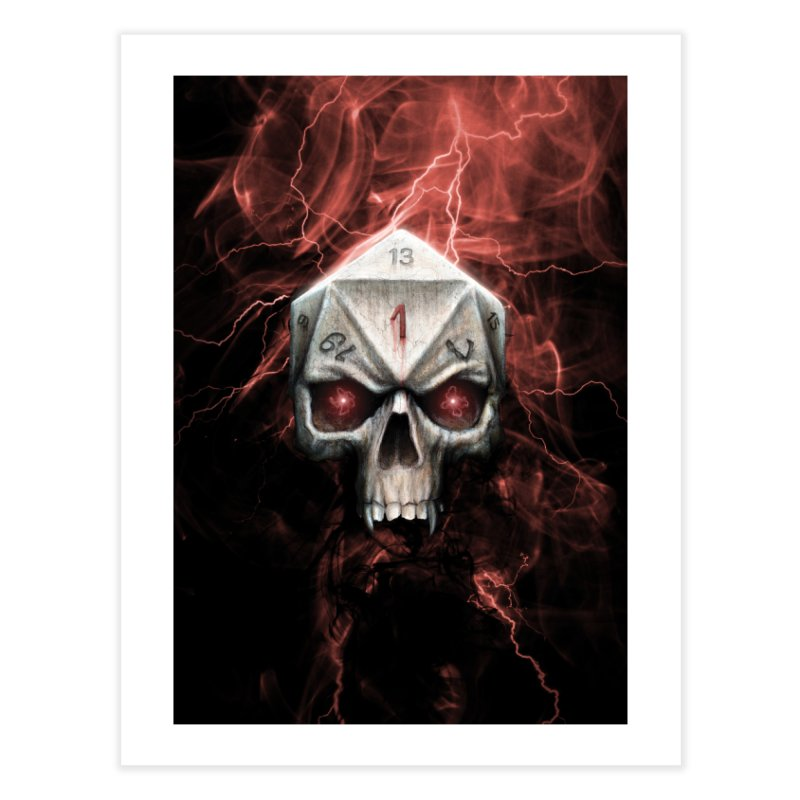 Skull D20 Home Fine Art Print by maratusfunk's Shop