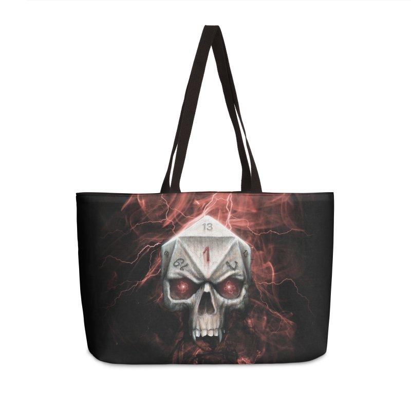 Skull D20 Accessories Weekender Bag Bag by maratusfunk's Shop