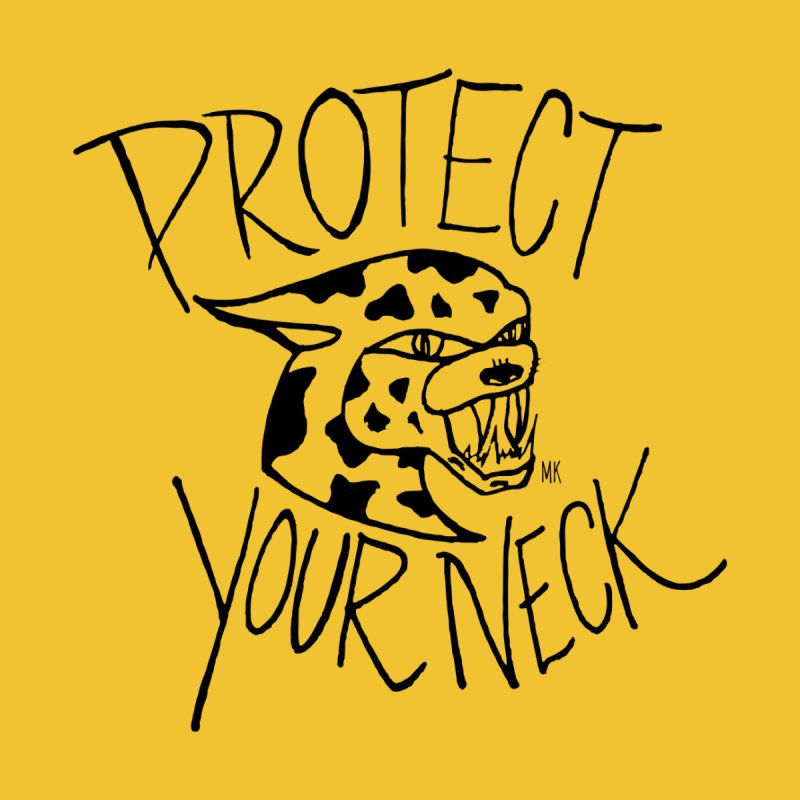 Protect Your Neck - Black Accessories Bag by marcellakroll's Artist Shop