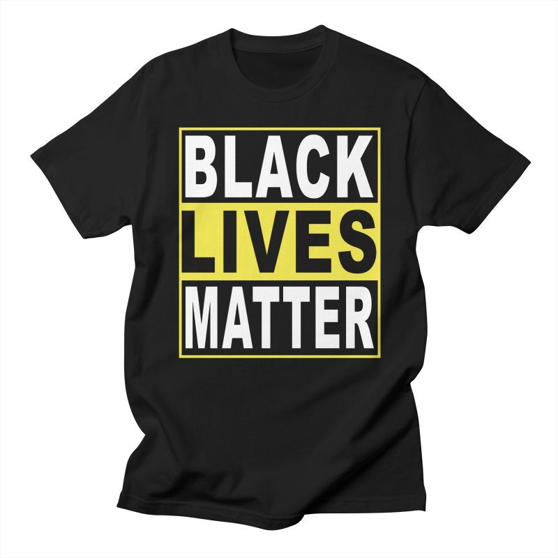 Black Lives Matter - Yellow Men's French Terry Zip-Up Hoody by Cool Black Chick