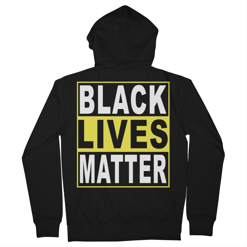 Black Lives Matter - Yellow Men's Zip-Up Hoody by Cool Black Chick