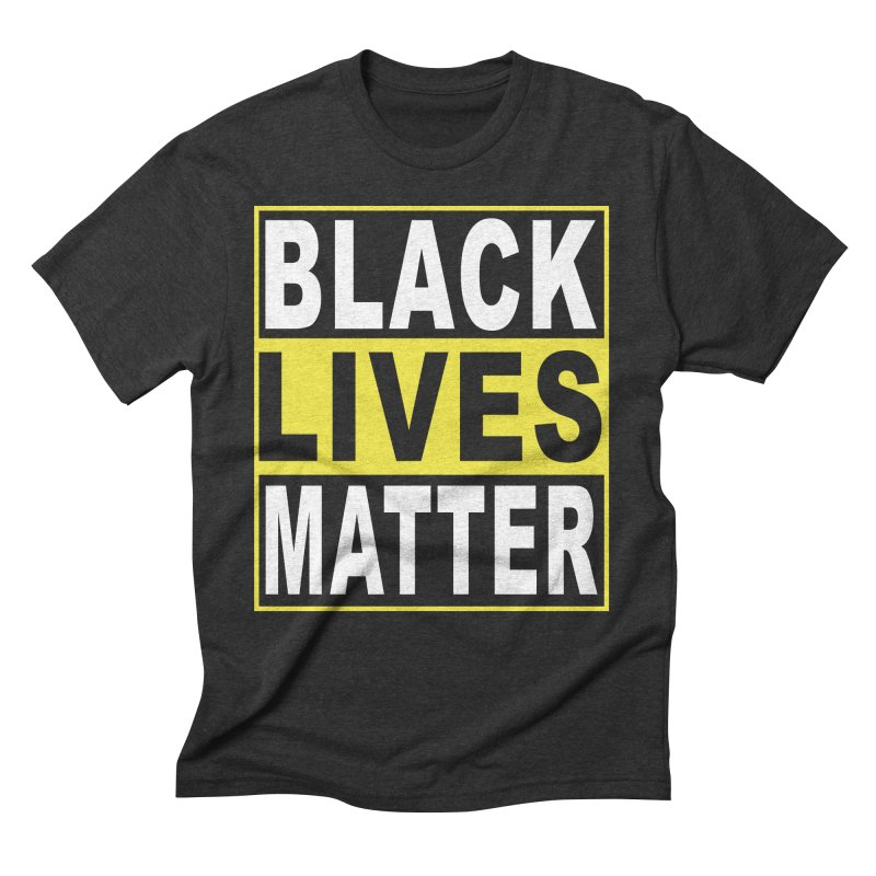 Black Lives Matter - Yellow Men's Triblend T-Shirt by Cool Black Chick
