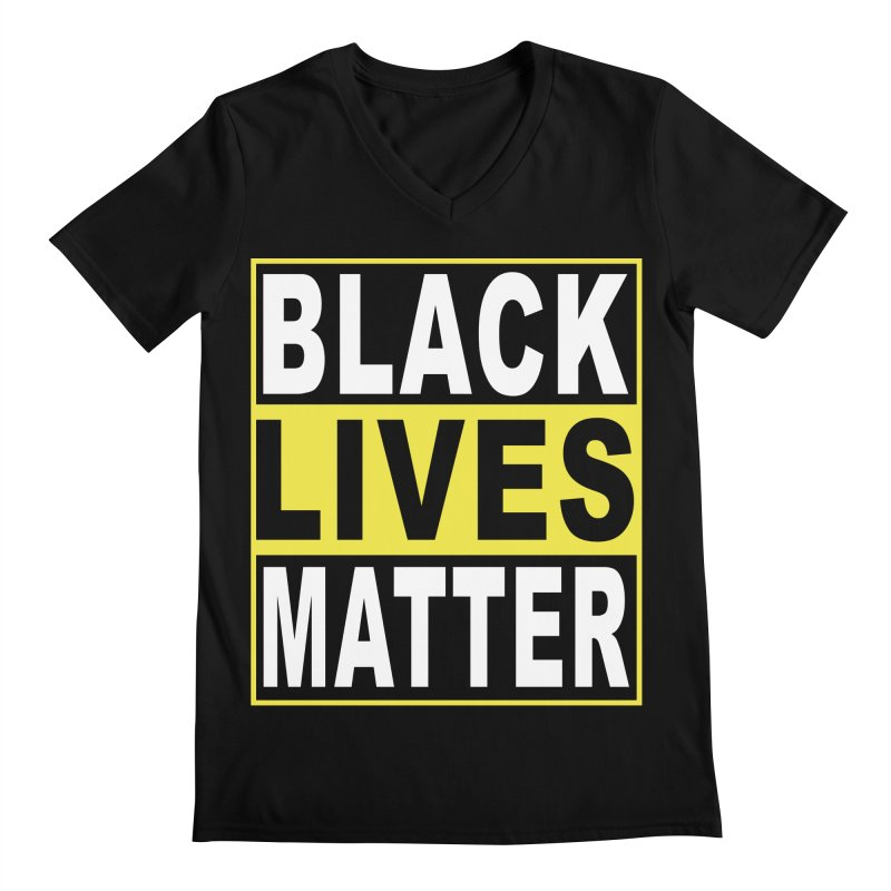 Black Lives Matter - Yellow Men's Regular V-Neck by Cool Black Chick
