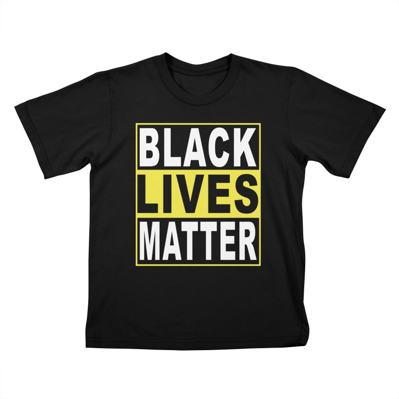 Black Lives Matter - Yellow Kids T-Shirt by Cool Black Chick
