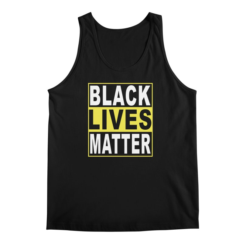 Black Lives Matter - Yellow Men's Regular Tank by Cool Black Chick