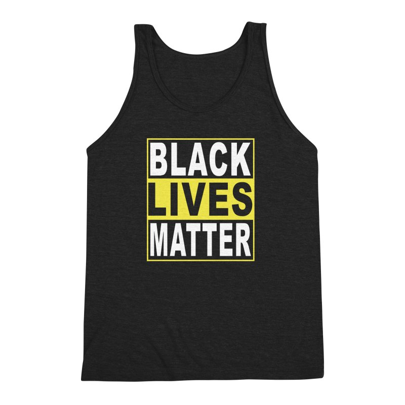 Black Lives Matter - Yellow Men's Triblend Tank by Cool Black Chick