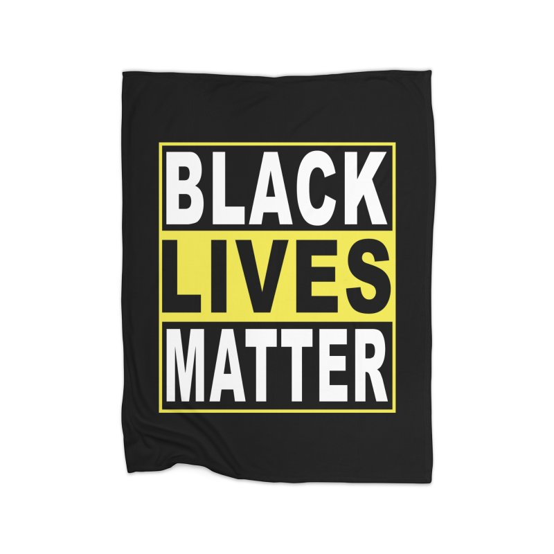 Black Lives Matter - Yellow Home Blanket by Cool Black Chick