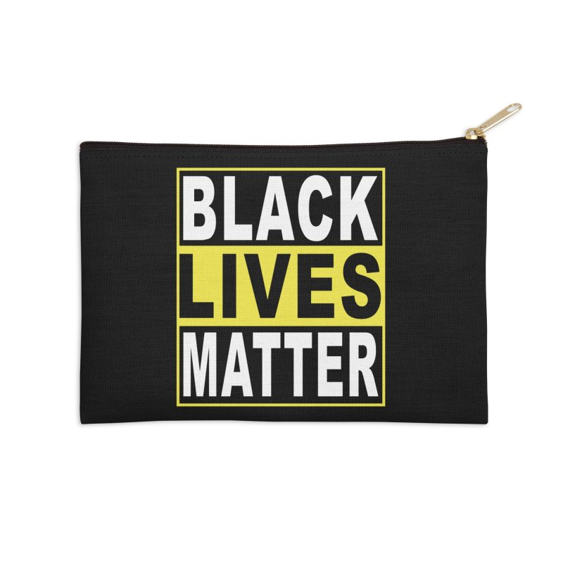 Black Lives Matter - Yellow Accessories Zip Pouch by Black Liberation