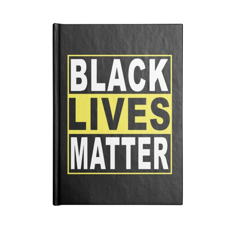 Black Lives Matter - Yellow Accessories Notebook by Cool Black Chick