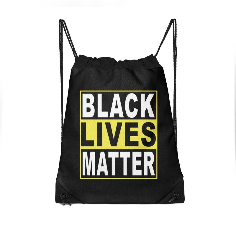 Black Lives Matter - Yellow Accessories Bag by Cool Black Chick