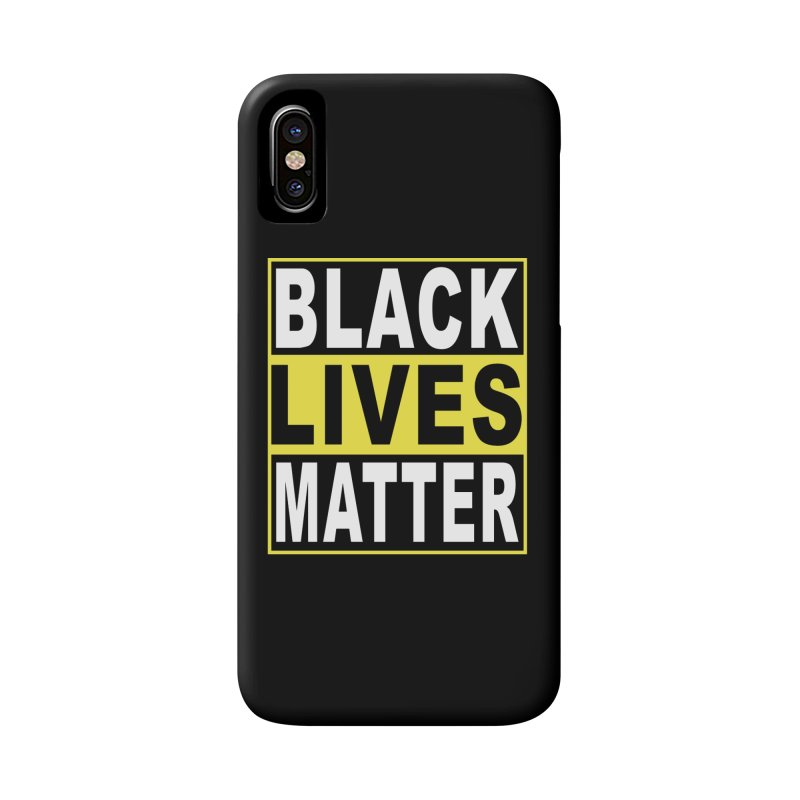 Black Lives Matter - Yellow Accessories Phone Case by Cool Black Chick