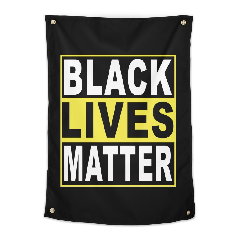 Black Lives Matter - Yellow Home Tapestry by Cool Black Chick