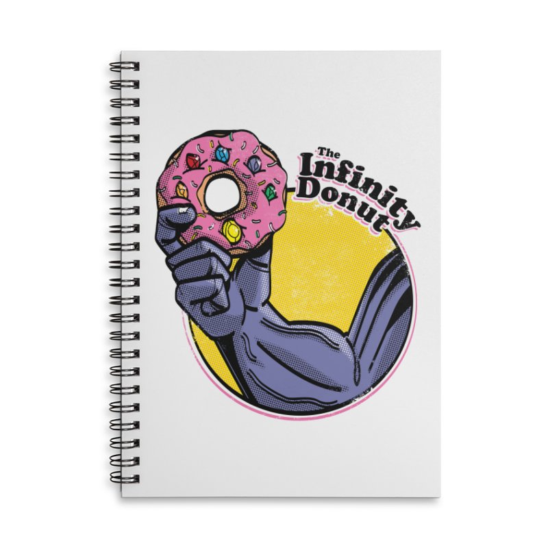 The Infinity Donut Accessories Lined Spiral Notebook by marcelocamacho's Artist Shop