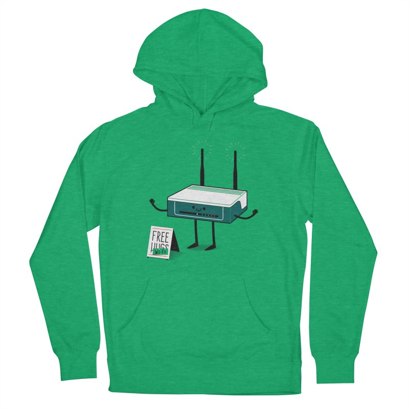 Free Wi-fi Men's French Terry Pullover Hoody by marcelocamacho's Artist Shop