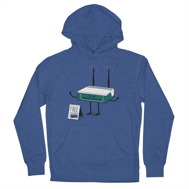 Free Wi-fi Men's Pullover Hoody by marcelocamacho's Artist Shop
