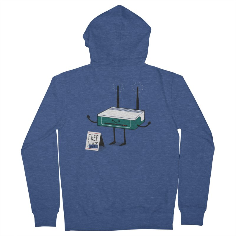 Free Wi-fi Women's French Terry Zip-Up Hoody by marcelocamacho's Artist Shop