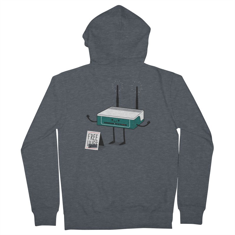 Free Wi-fi Men's French Terry Zip-Up Hoody by marcelocamacho's Artist Shop