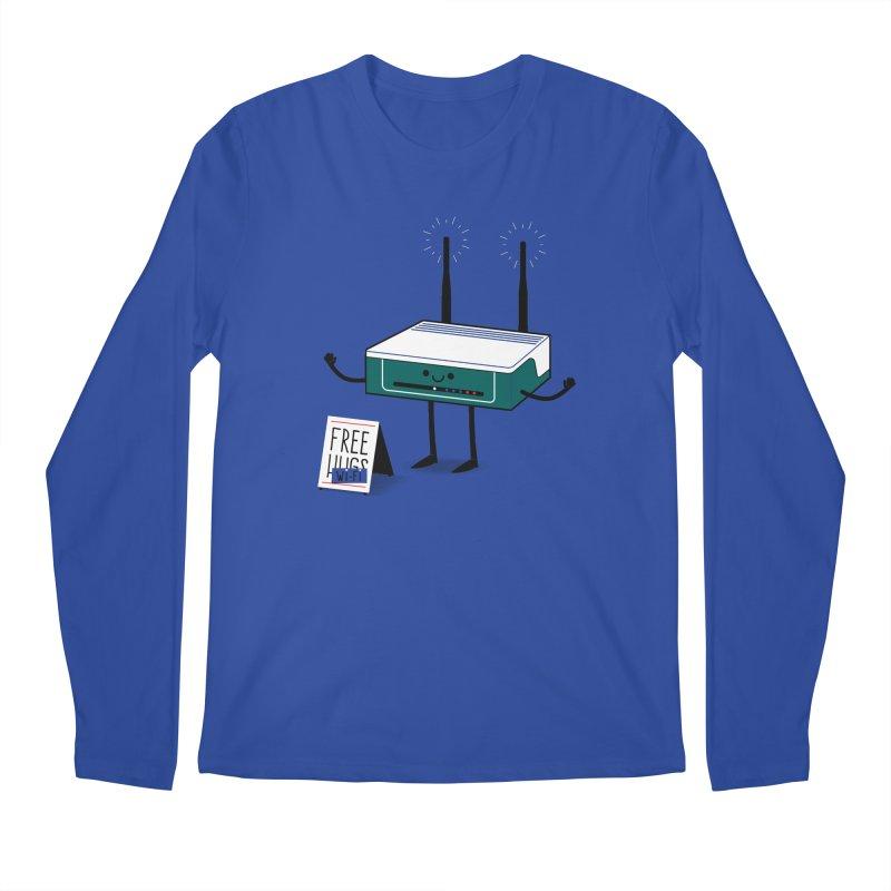 Free Wi-fi Men's Regular Longsleeve T-Shirt by marcelocamacho's Artist Shop