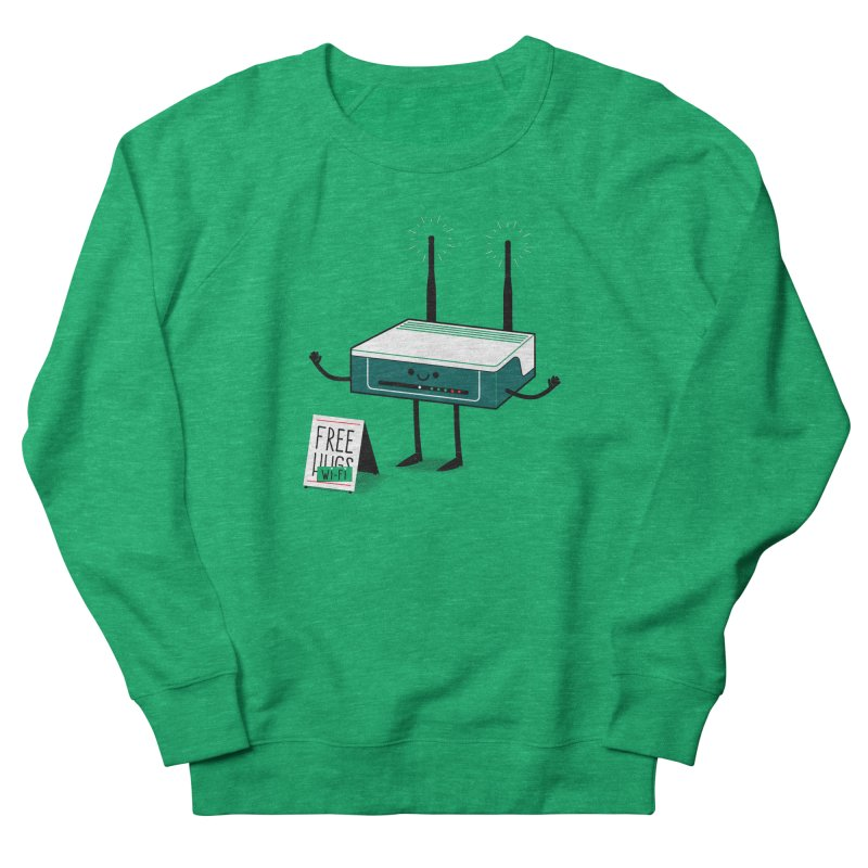 Free Wi-fi Women's Sweatshirt by marcelocamacho's Artist Shop