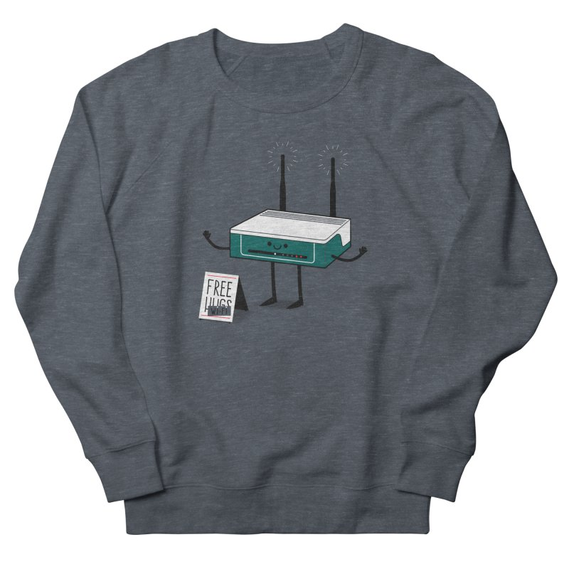Free Wi-fi Men's French Terry Sweatshirt by marcelocamacho's Artist Shop