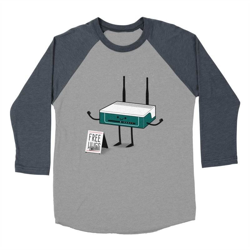 Free Wi-fi Men's Baseball Triblend T-Shirt by marcelocamacho's Artist Shop