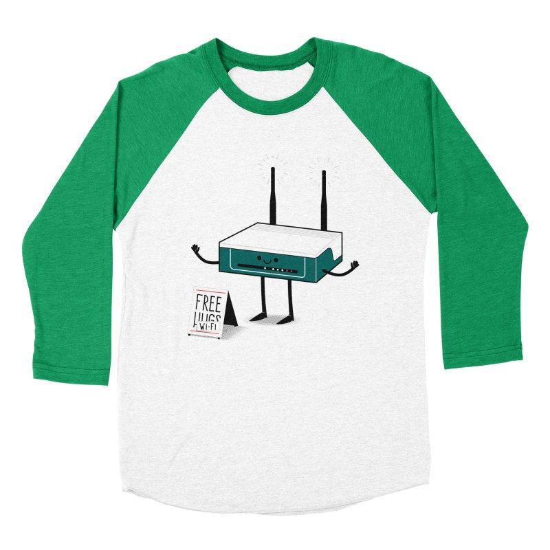 Free Wi-fi Men's Baseball Triblend T-Shirt by marcelocamacho's Artist Shop