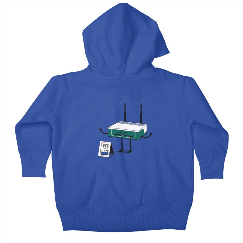 Free Wi-fi Kids Baby Zip-Up Hoody by marcelocamacho's Artist Shop