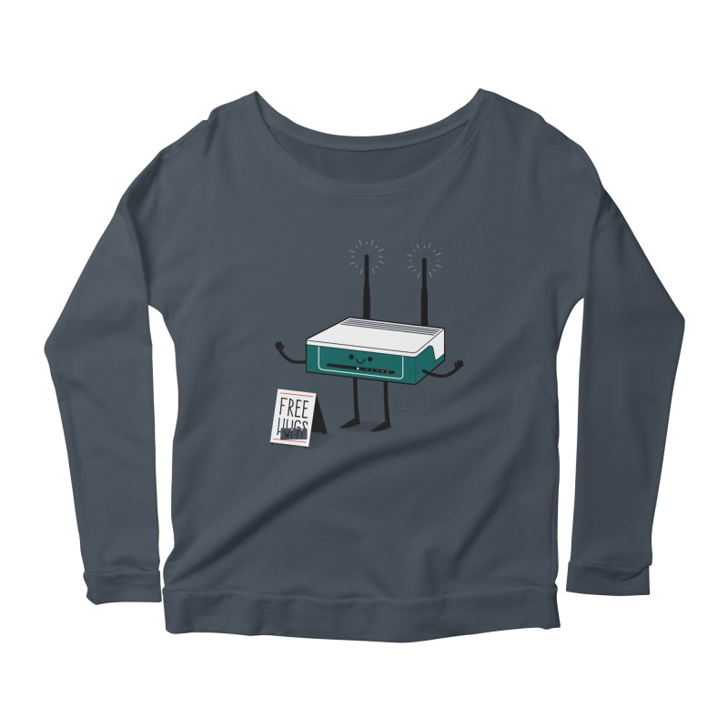 Free Wi-fi Women's Scoop Neck Longsleeve T-Shirt by marcelocamacho's Artist Shop