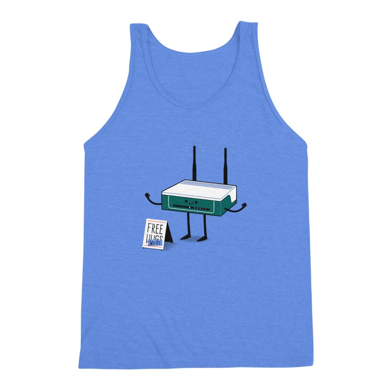 Free Wi-fi Men's Triblend Tank by marcelocamacho's Artist Shop