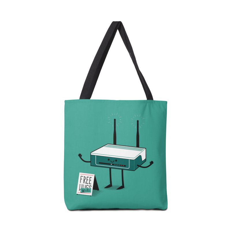 Free Wi-fi Accessories Tote Bag Bag by marcelocamacho's Artist Shop