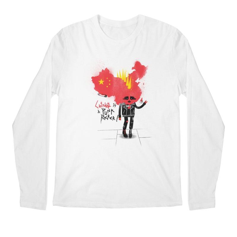 China is a punk rocker! Men's Regular Longsleeve T-Shirt by marcelocamacho's Artist Shop