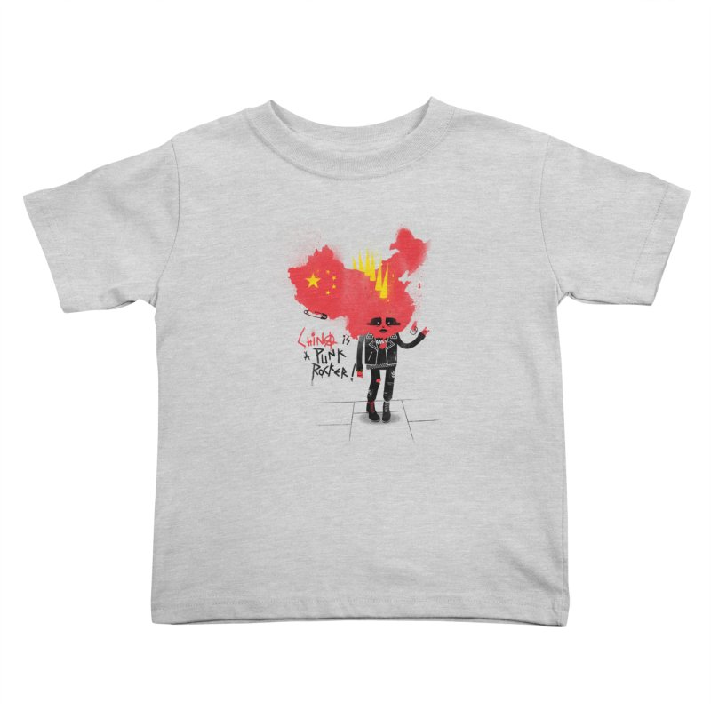 China is a punk rocker! Kids Toddler T-Shirt by marcelocamacho's Artist Shop