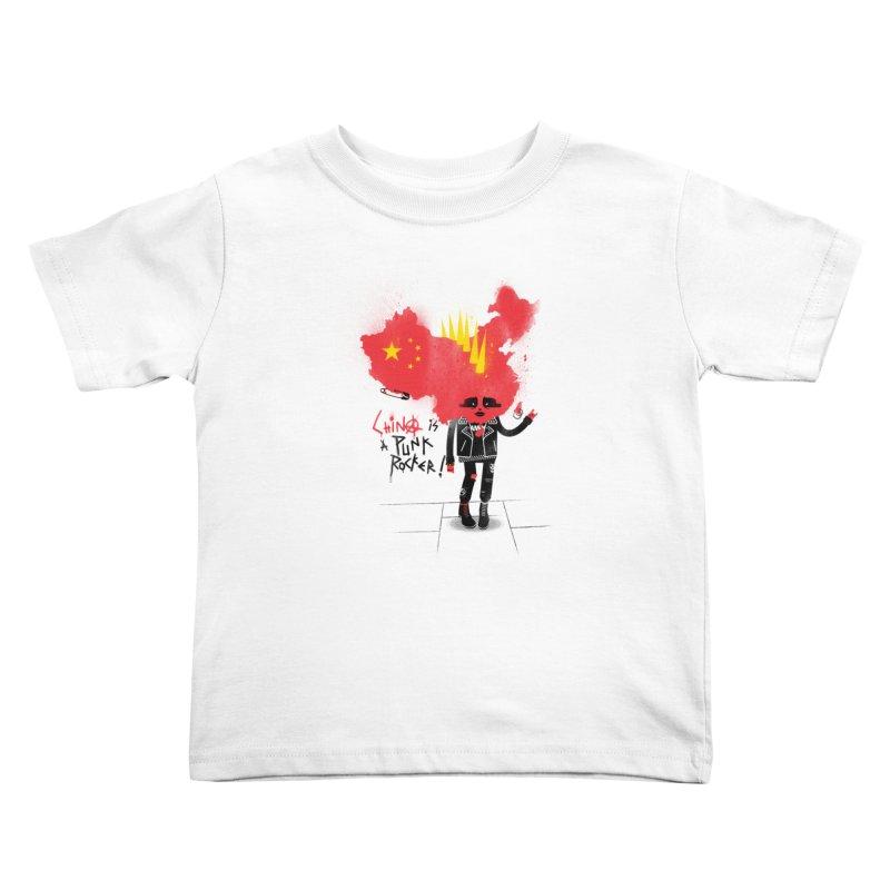 China is a punk rocker! Kids Toddler T-Shirt by marcelocamacho's Artist Shop