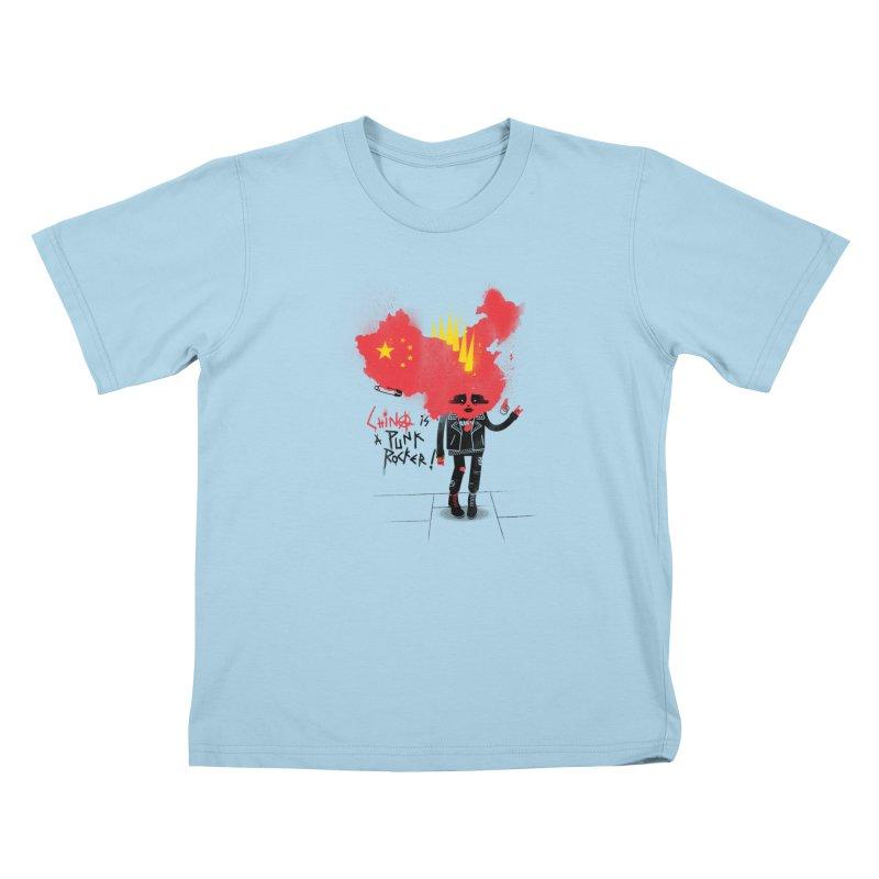 China is a punk rocker! Kids T-Shirt by marcelocamacho's Artist Shop