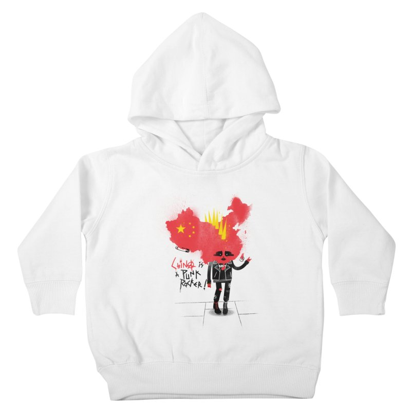 China is a punk rocker! Kids Toddler Pullover Hoody by marcelocamacho's Artist Shop