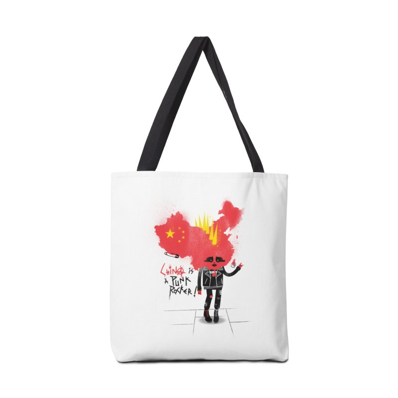 China is a punk rocker! Accessories Tote Bag Bag by marcelocamacho's Artist Shop