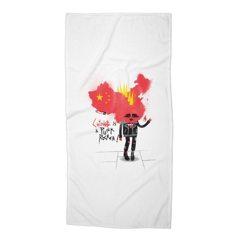 China is a punk rocker! Accessories Beach Towel by marcelocamacho's Artist Shop