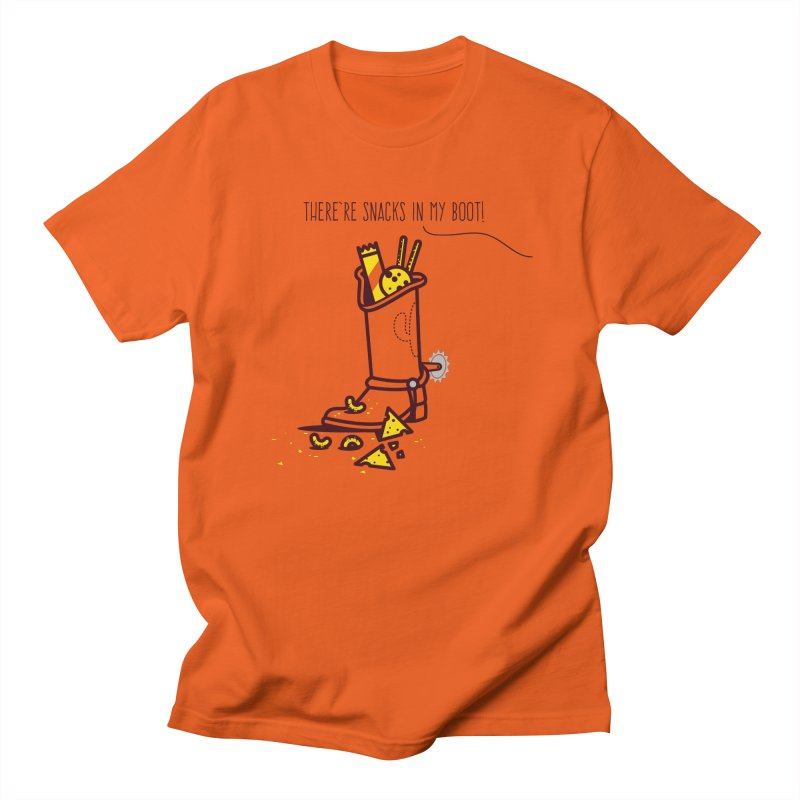 There're snacks in my boot! Men's Regular T-Shirt by marcelocamacho's Artist Shop