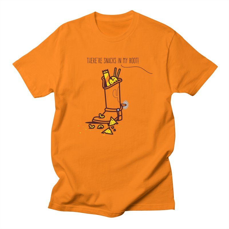 There're snacks in my boot! Men's T-Shirt by marcelocamacho's Artist Shop