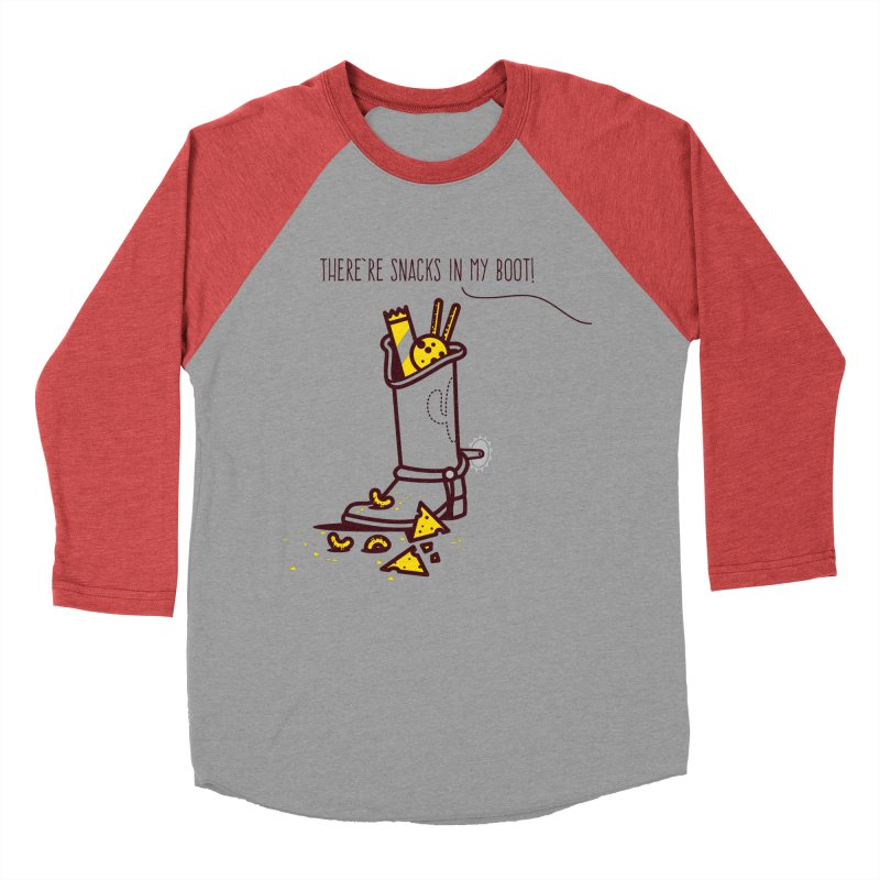 There're snacks in my boot! Women's Baseball Triblend Longsleeve T-Shirt by marcelocamacho's Artist Shop