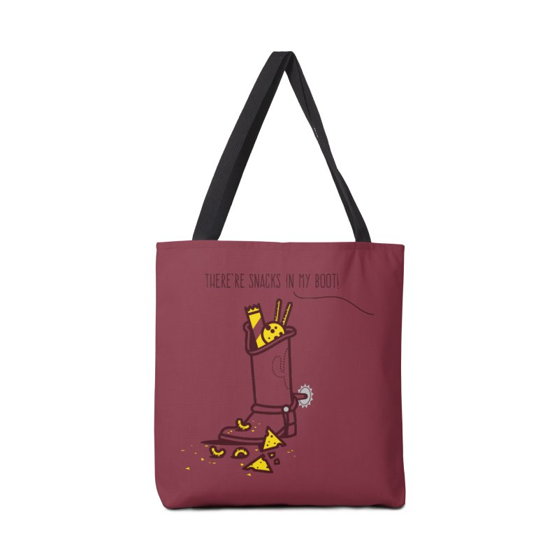 There're snacks in my boot! Accessories Tote Bag Bag by marcelocamacho's Artist Shop
