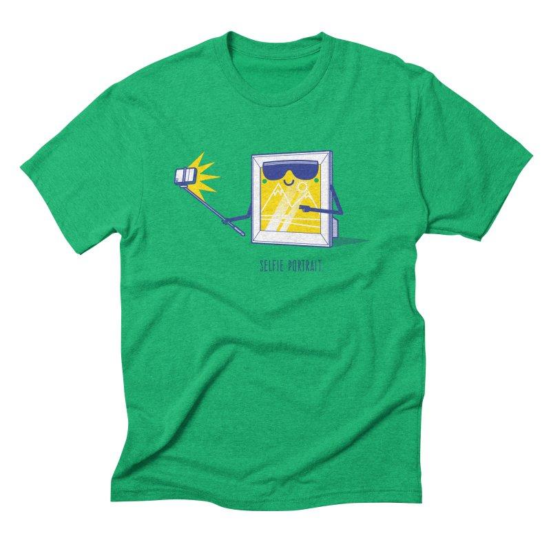 Selfie Portrait Men's Triblend T-Shirt by marcelocamacho's Artist Shop