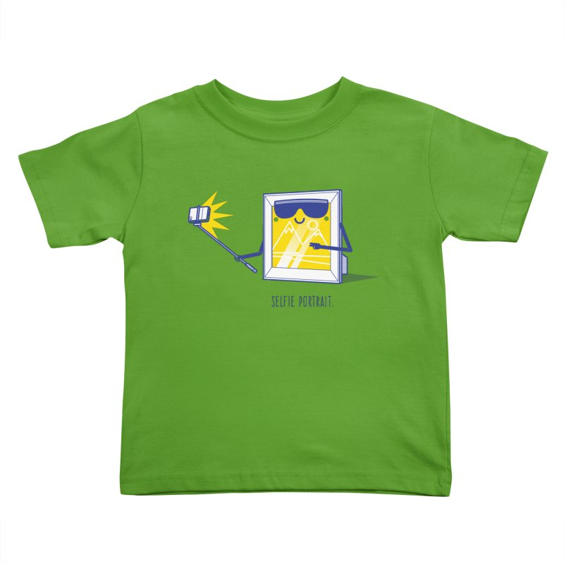 Selfie Portrait Kids Toddler T-Shirt by marcelocamacho's Artist Shop