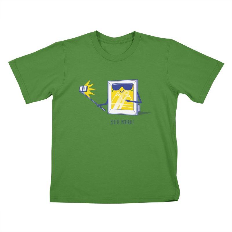 Selfie Portrait Kids T-shirt by marcelocamacho's Artist Shop