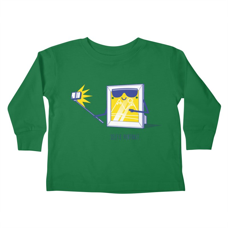 Selfie Portrait Kids Toddler Longsleeve T-Shirt by marcelocamacho's Artist Shop