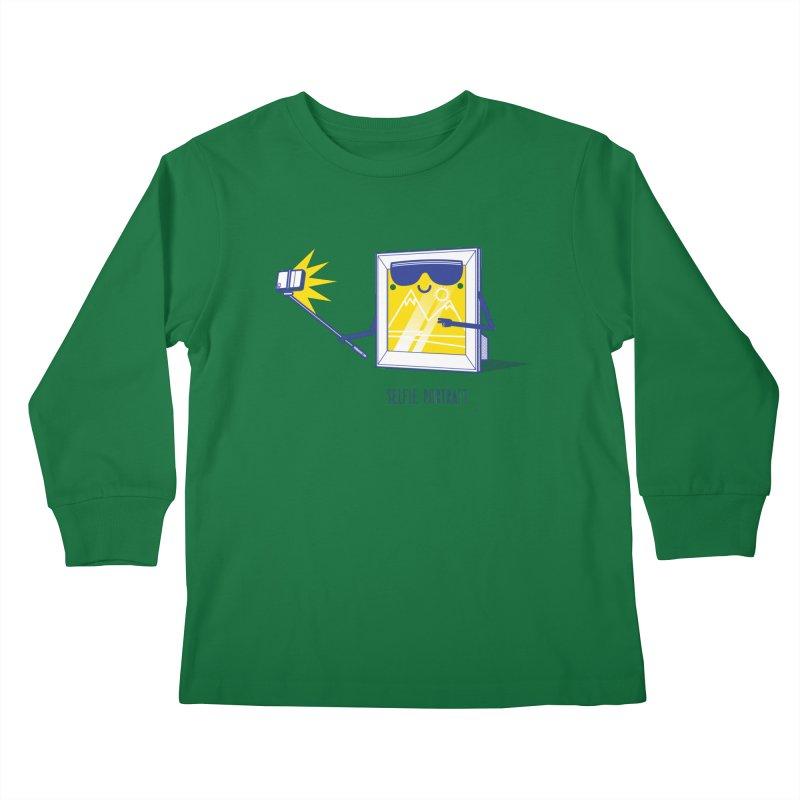 Selfie Portrait Kids Longsleeve T-Shirt by marcelocamacho's Artist Shop